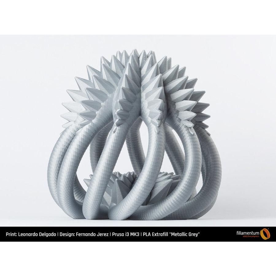 PLA Metallic Grey, RAL 7045, 750 grams 3D filament-4