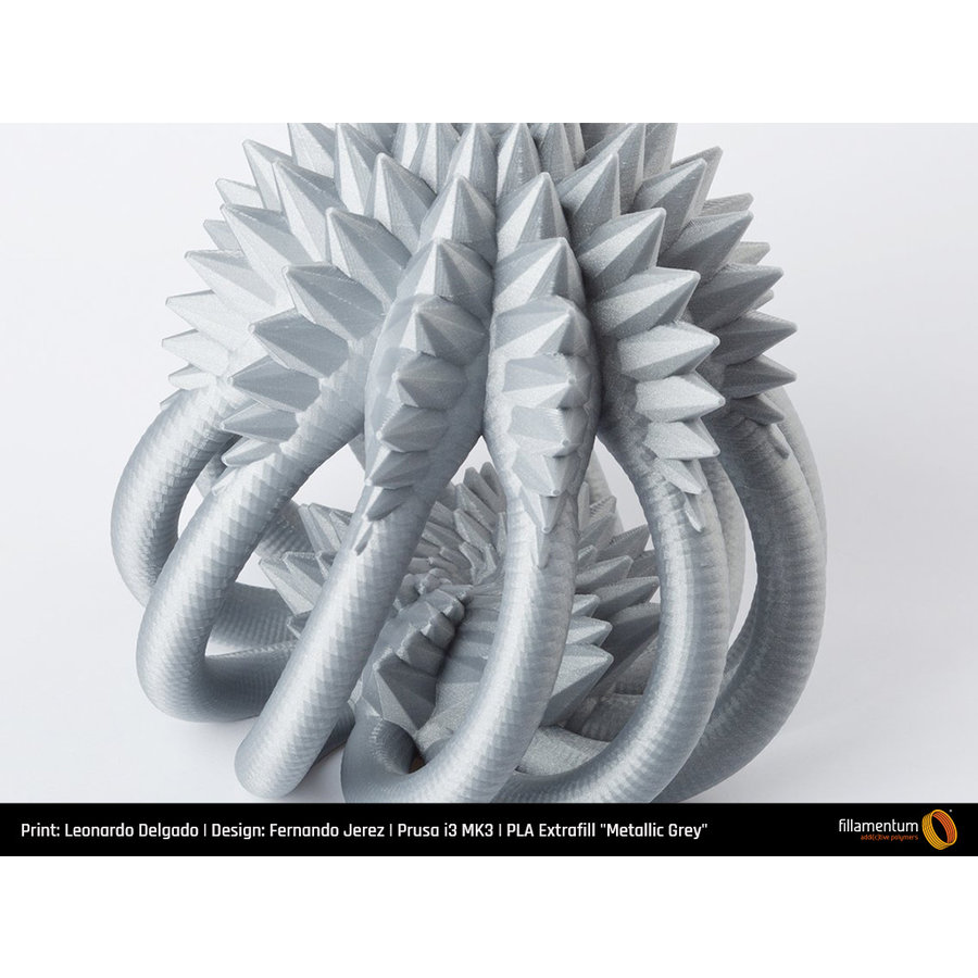 PLA Metallic Grey, RAL 7045, 750 grams 3D filament-5