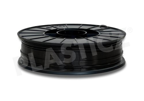 Plasticz PLA Traffic Black / Zwart: RAL 9017, PLA, 1.75 / 2.85 mm, 1.000 grams (1 KG)  PLA filament