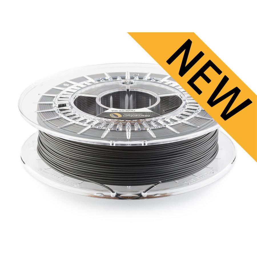 Flexfill TPE 90A - Traffic Black - RAL 9017, 500 grams, flexible filament-1