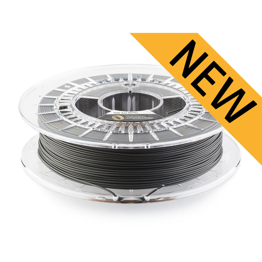 Flexfill TPE 90A - Traffic Black/Zwart - RAL 9017, 500 gram, flexibel filament-1