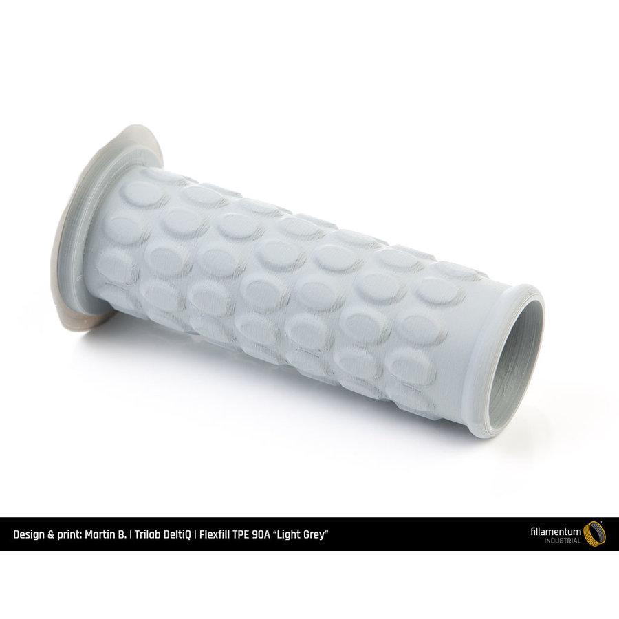 Flexfill TPE 90A - Light Grey/ licht grijs - RAL 7046, 500 grams, flexible filament-4