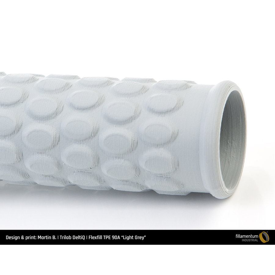 Flexfill TPE 90A - Light Grey/ licht grijs - RAL 7046, 500 grams, flexible filament-5