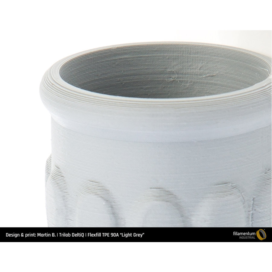Flexfill TPE 96A, flexible filament - Light Grey/ licht grijs - RAL 7046, 500 grams-3