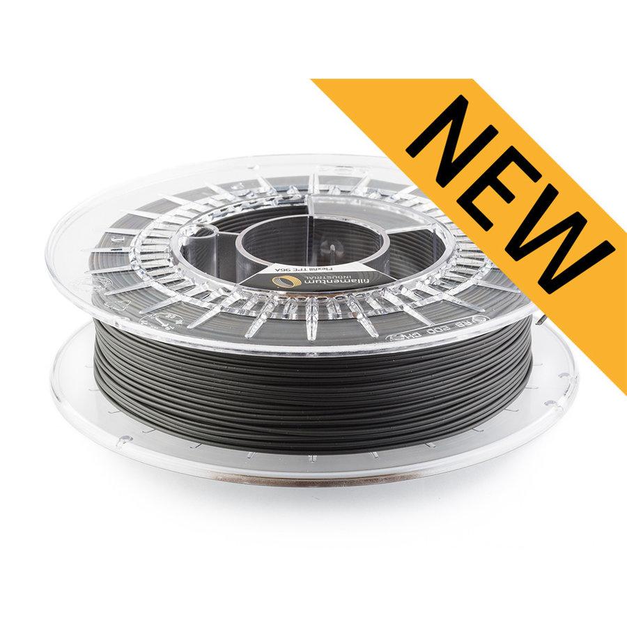 Flexfill TPE 96A, SEMI-flexibel filament - Traffic Black/zwart - RAL 9017, 500 gram-1