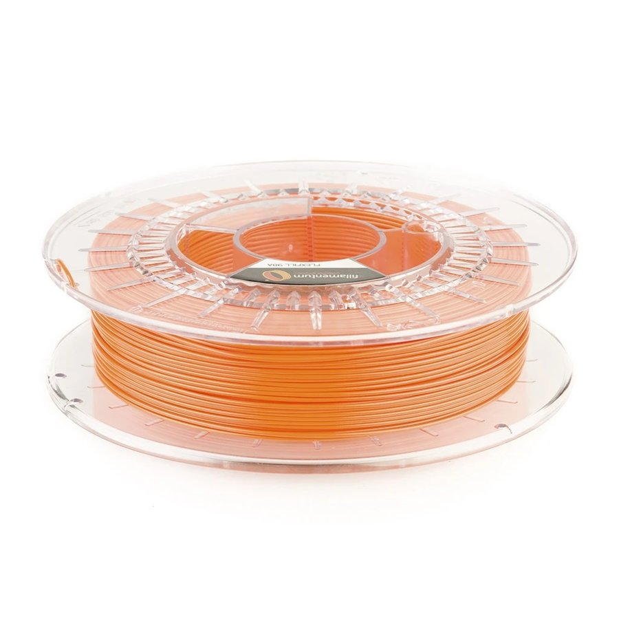 Flexfill 98A Oranje/Carrot Orange: semi-flexibel 3D filament, 500 gram-1