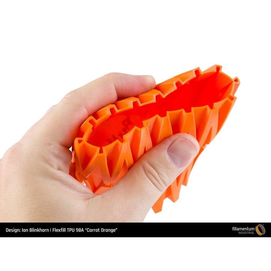 Flexfill 98A Carrot Orange: semi-flexibel 3D filament, 500 grams-2