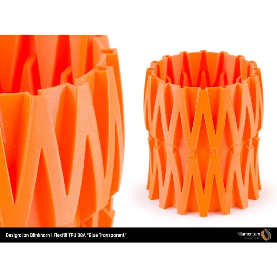 Flexfill 98A Carrot Orange: semi-flexibel 3D filament, 500 grams-3