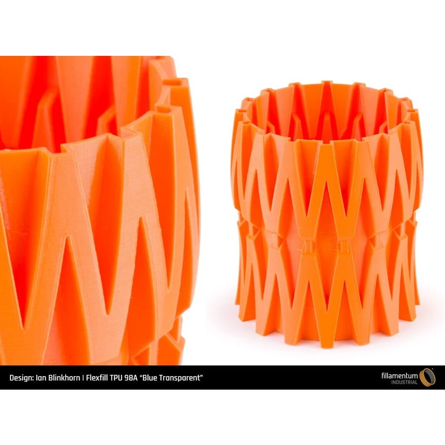 Flexfill 98A Oranje/Carrot Orange: semi-flexibel 3D filament, 500 gram-3