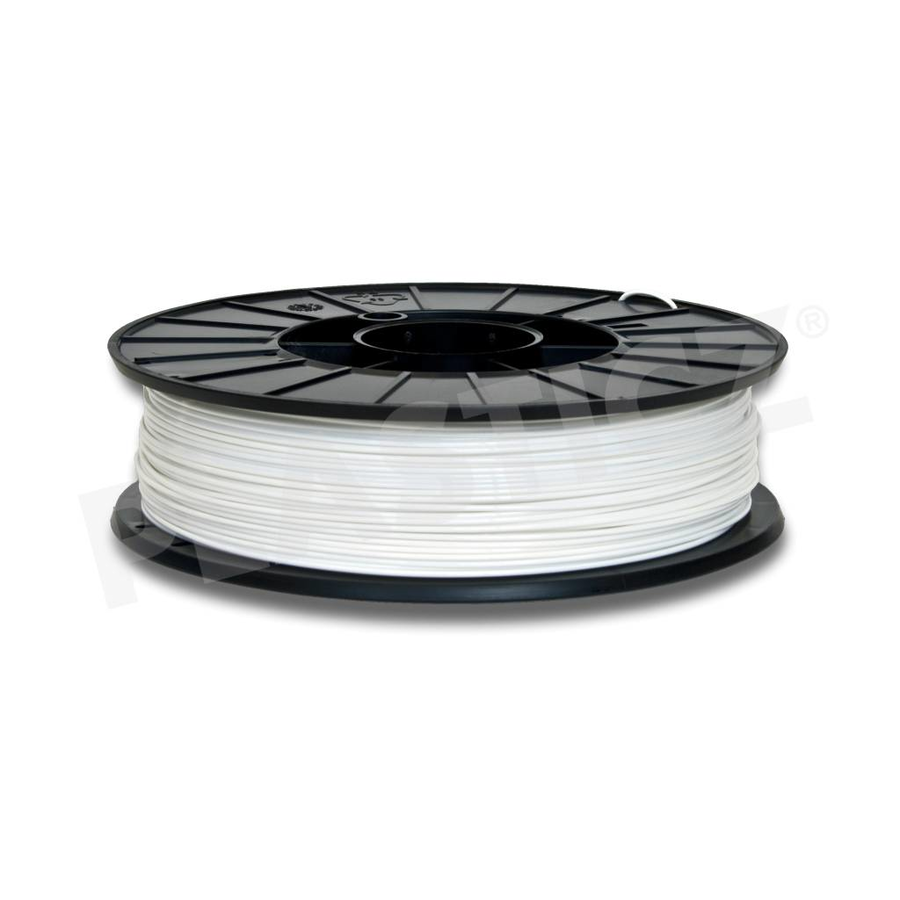 PLA Signal White / Wit, RAL 9003, 1 KG filament-1