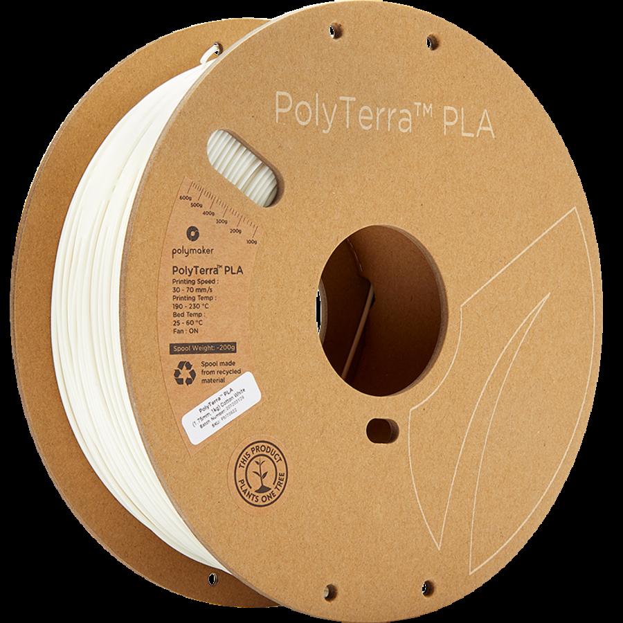 PolyTerra™ PLA Cotton White/wit, 1.000 gram (1 KG) 3D filament-5