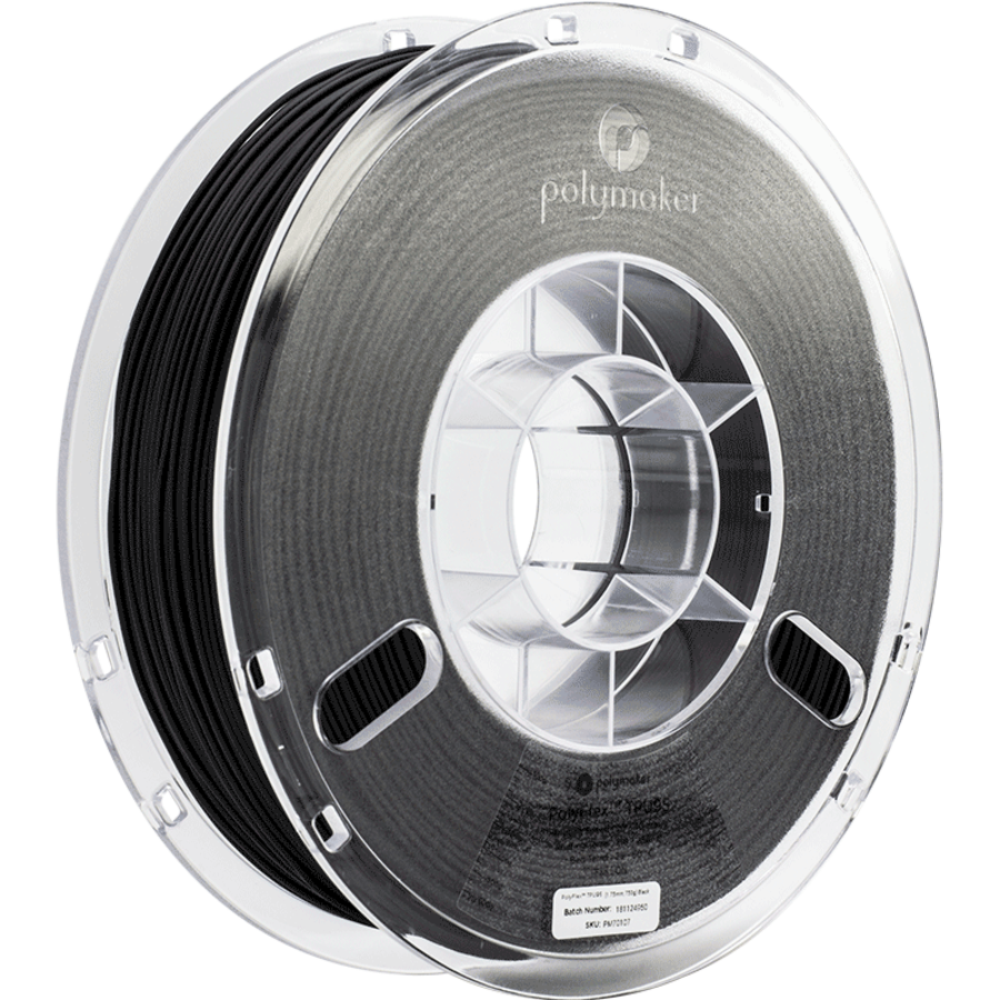 PolyFlex™ TPU95-High Flow, Black/zwart, flexibel filament - 1 KG/1.000 gram-1