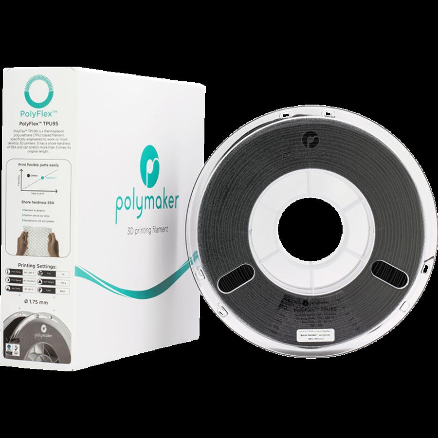 PolyFlex™ TPU95-High Flow, Black, flexible filament - 1 KG/1000 grams-3
