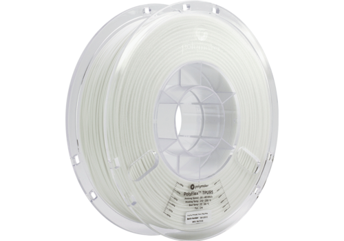 Polymaker PolyFlex™ TPU95-High Flow, white, flexible filament - 1 KG/1000 grams