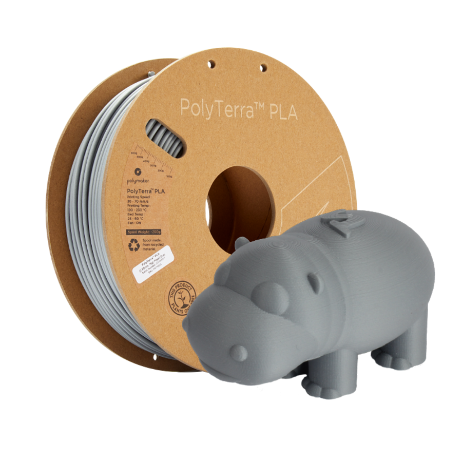 PolyTerra™ PLA Grey, 1KG, Fossil Grey, 1.000 grams 3D filament-6