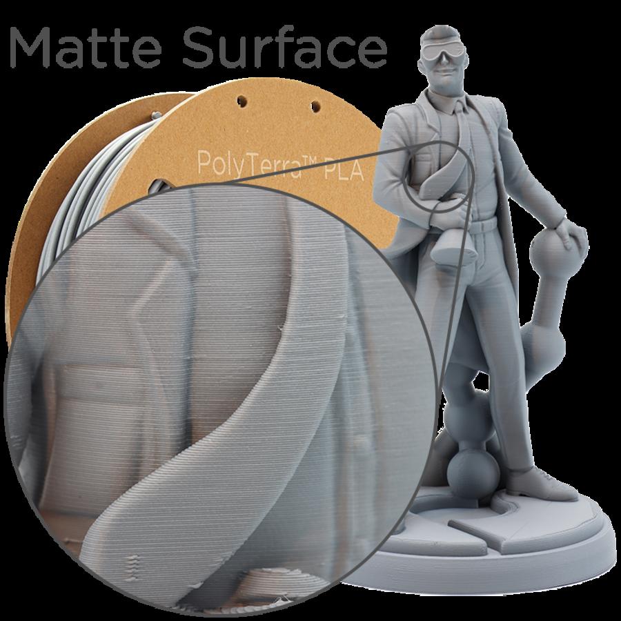 PolyTerra™ PLA Grey, 1KG, Fossil Grey, 1.000 grams 3D filament-5