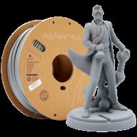 thumb-PolyTerra™ PLA Grey, 1KG, Fossil Grey, 1.000 grams 3D filament-1