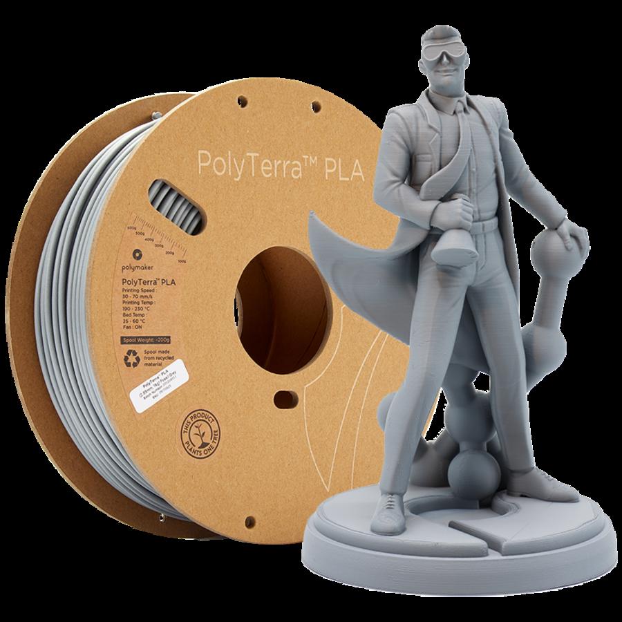 PolyTerra™ PLA Grey, 1KG, Fossil Grey, 1.000 grams 3D filament-1