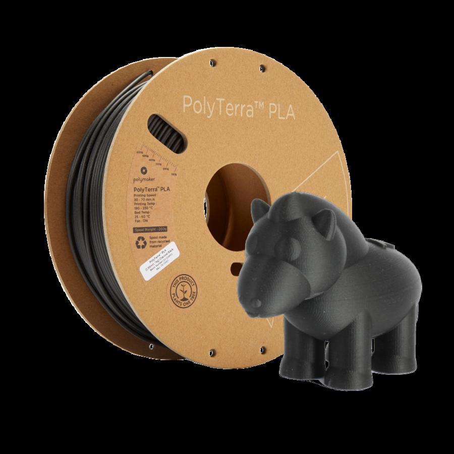 PolyTerra™ PLA zwart, 1KG, Charcoal Black, 1.000 gram 3D filament-7