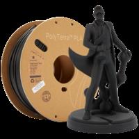 thumb-PolyTerra™ PLA black, 1KG, Charcoal Black, 1.000 grams 3D filament-1