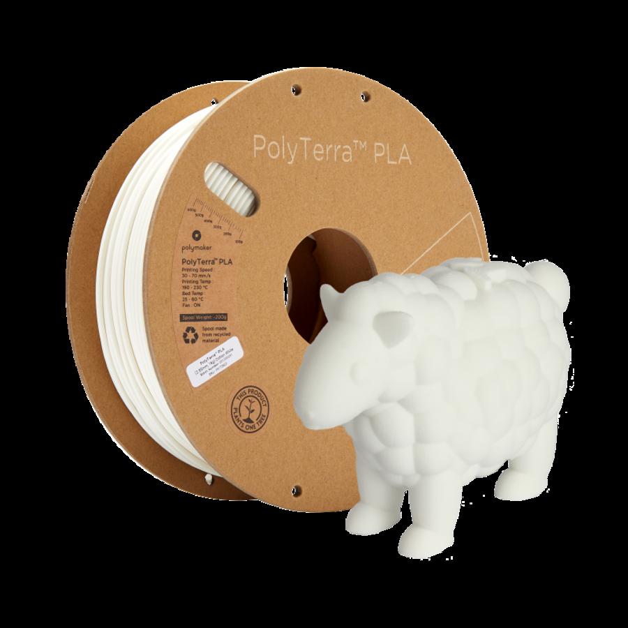 PolyTerra™ PLA Cotton White/wit, 1.000 gram (1 KG) 3D filament-8