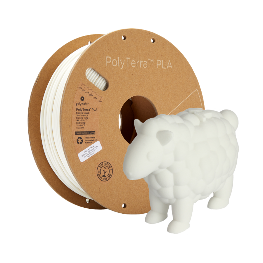PolyTerra™ PLA white, 1 KG, Cotton White, 1.000 grams 3D filament-8