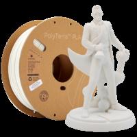 thumb-PolyTerra™ PLA Cotton White/wit, 1.000 gram (1 KG) 3D filament-1