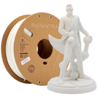 thumb-PolyTerra™ PLA white, 1 KG, Cotton White, 1.000 grams 3D filament-1