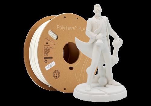 Polymaker PolyTerra™ PLA white, 1 KG, Cotton White, 1.000 gram 3D filament