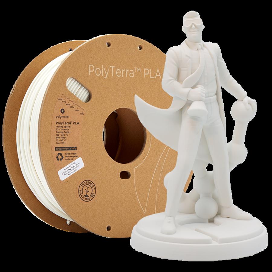 PolyTerra™ PLA Cotton White/wit, 1.000 gram (1 KG) 3D filament-1