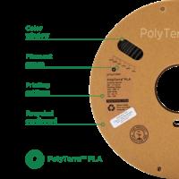 thumb-PolyTerra™ PLA black, 1KG, Charcoal Black, 1.000 grams 3D filament-2