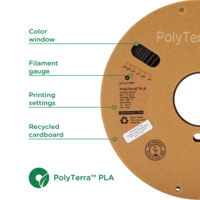 thumb-PolyTerra™ PLA zwart, 1KG, Charcoal Black, 1.000 gram 3D filament-2