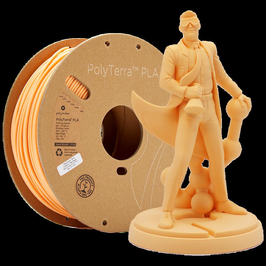 PolyTerra™ PLA perzik, 1 KG, Peach, 1.000 gram 3D filament-1