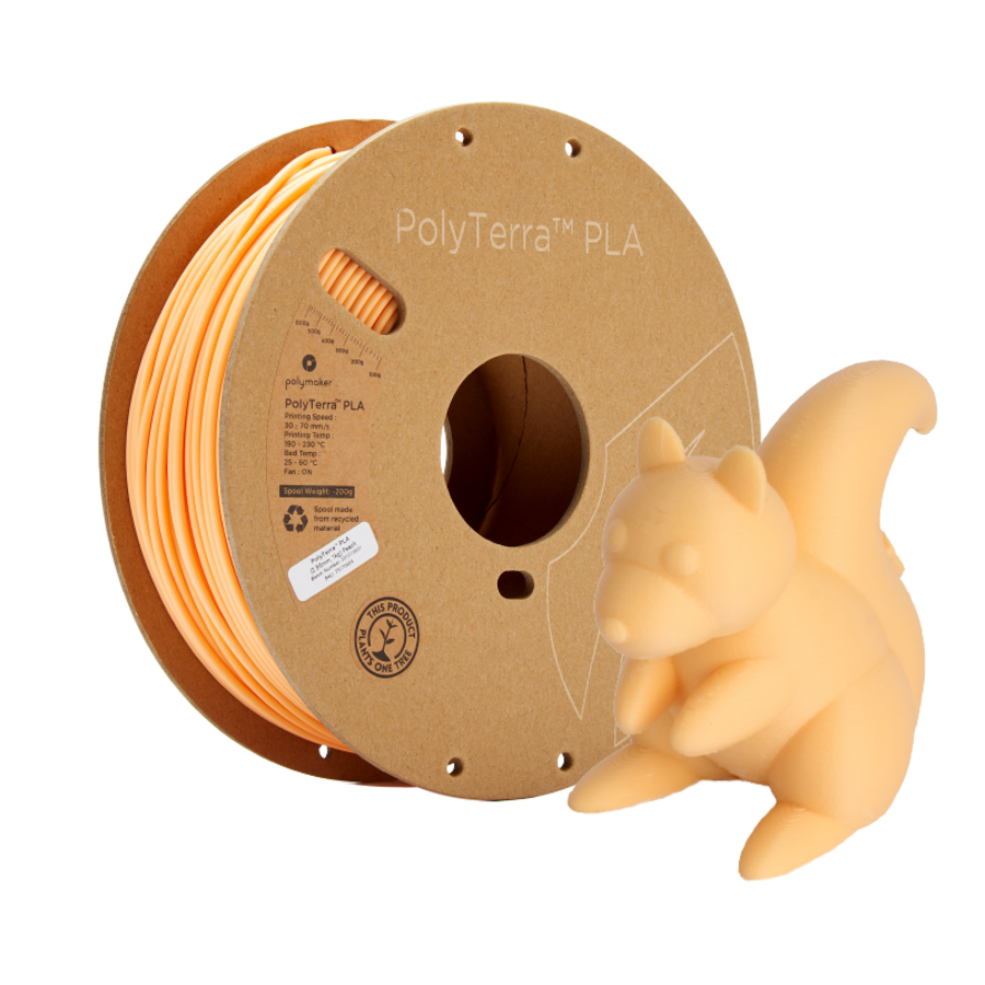 PolyTerra™ PLA Perzik/Pastel Oranje, 1KG 3D filament-5