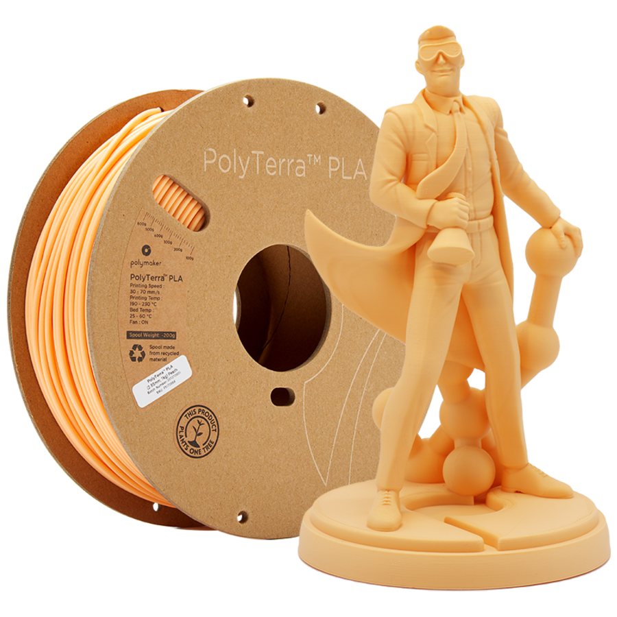 PolyTerra™ PLA Perzik/Pastel Oranje, 1KG 3D filament-1