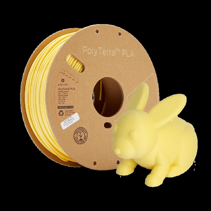 PolyTerra™ PLA Banaan/Pastel Geel, 1KG 3D filament-5