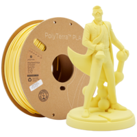thumb-PolyTerra™ PLA Banana/Pastel Yellow, 1KG 3D filament-1