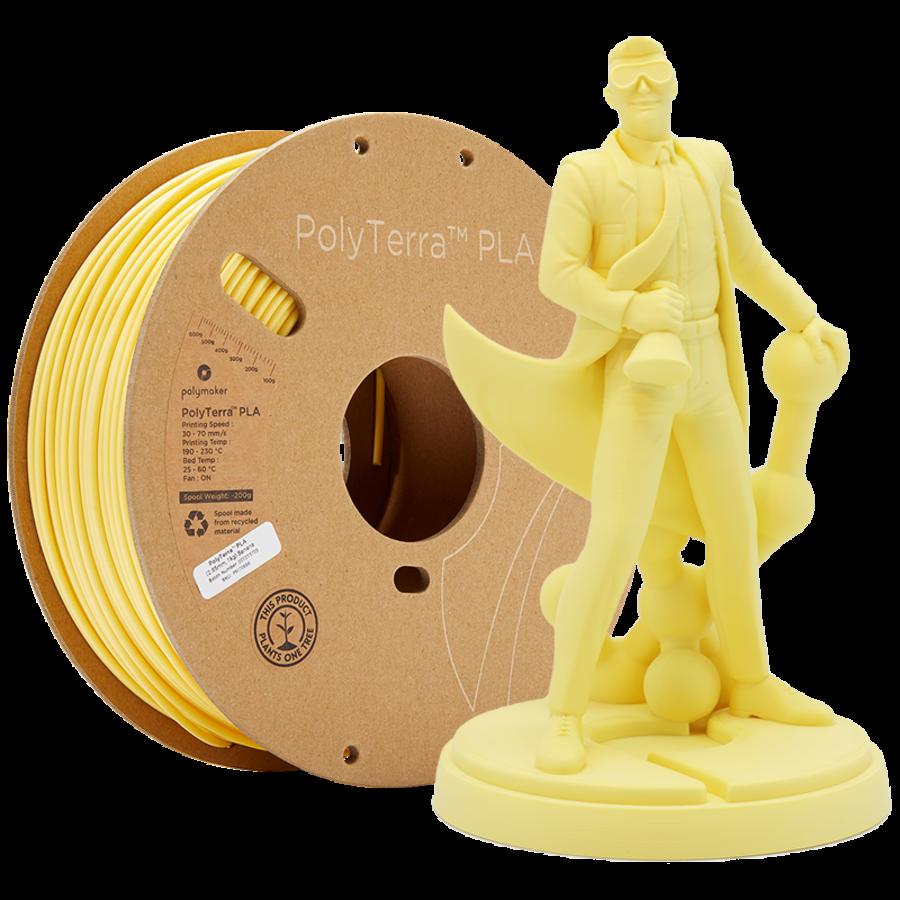 PolyTerra™ PLA Banana/Pastel Yellow, 1KG 3D filament-1