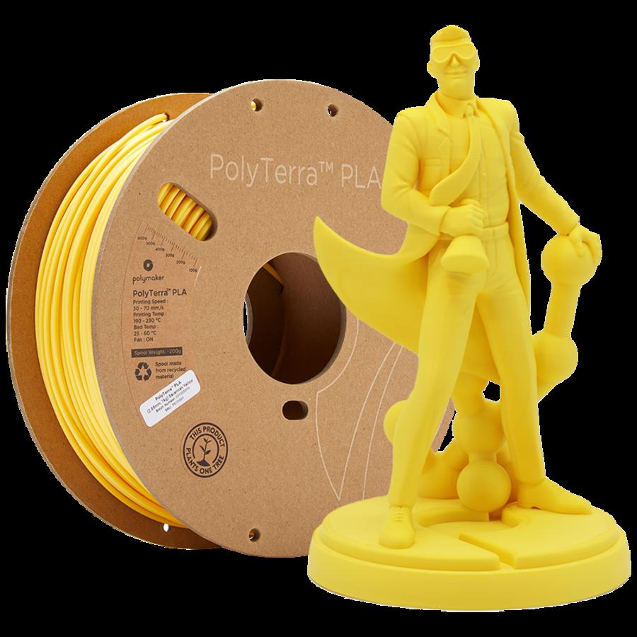 PolyTerra™ PLA Savannah Geel/Yellow-Pantone 2004, 1KG 3D filament-1