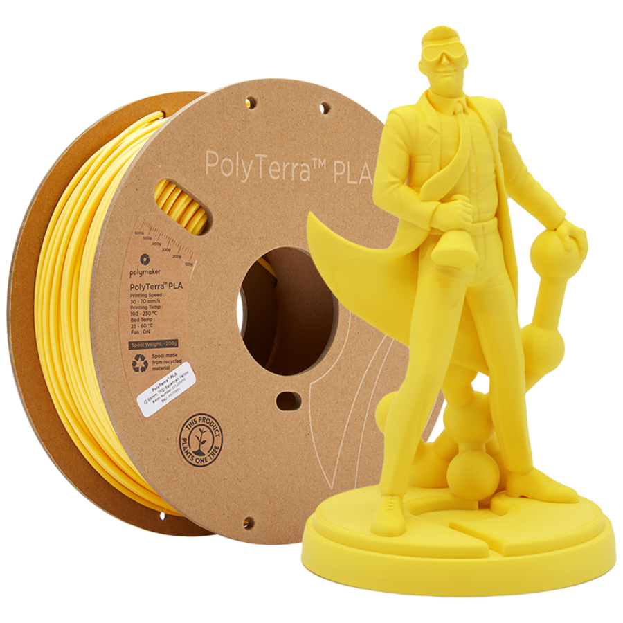 PolyTerra™ PLA Savannah Yellow-Pantone 2004, 1KG 3D filament-1