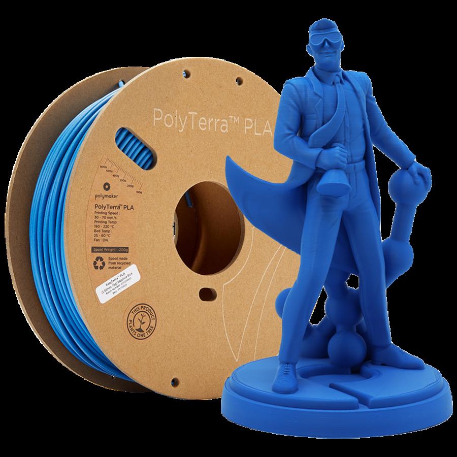 PolyTerra™ PLA Sapphire Blue-Pantone 3005, 1KG 3D filament-1