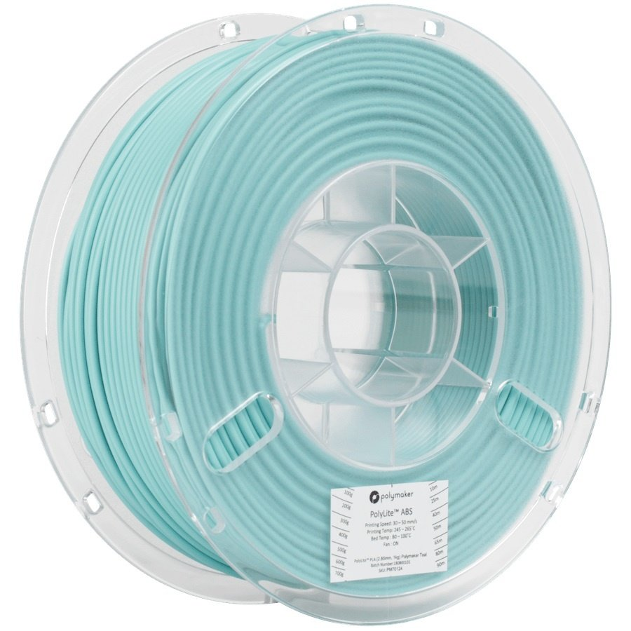 PolyLite™ PLA Teal, Pantone 2227, 1 KG Jam Free 3D filament-1