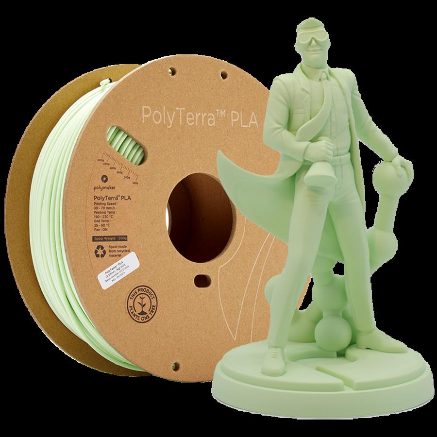 PolyTerra™ PLA Mint-Pantone 2282, 1KG 3D filament-1