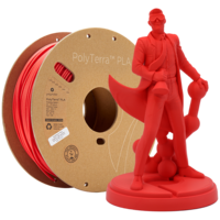 thumb-PolyTerra™ PLA Lava Red-Pantone 2235, 1KG 3D filament-1