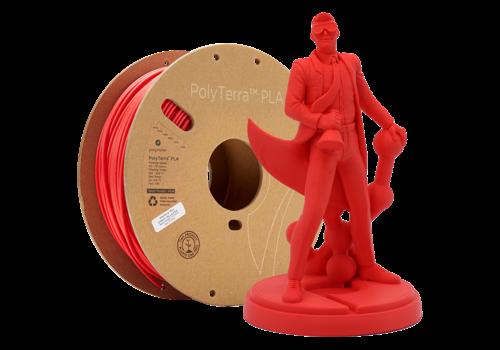 Polymaker PolyTerra™ PLA Lava Red-Pantone 2235, 1KG 3D filament