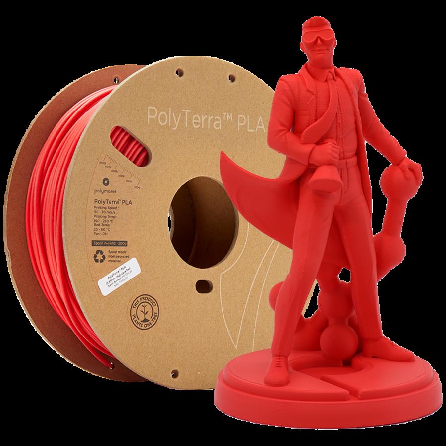 PolyTerra™ PLA Lava Red-Pantone 2235, 1KG 3D filament-1