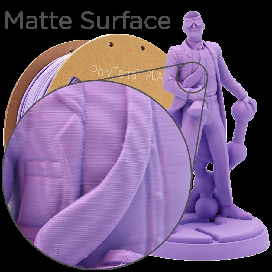 PolyTerra™ PLA Paars/Lavender Purple-Pantone 2073, 1KG 3D filament-4