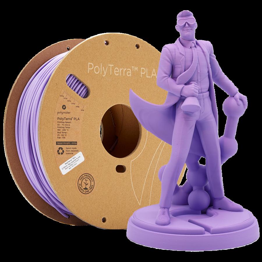 PolyTerra™ PLA Lavender Purple-Pantone 2073, 1KG 3D filament-1