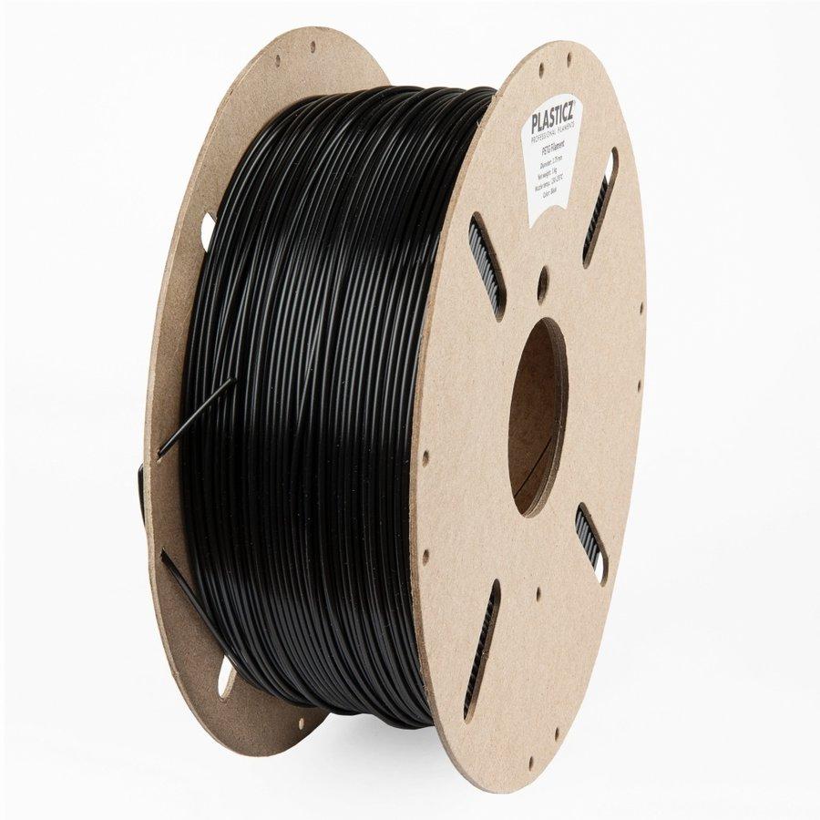 """PETG filament """"ECO-pack"""", 1 KG, Traffic Black RAL 9017-1"""