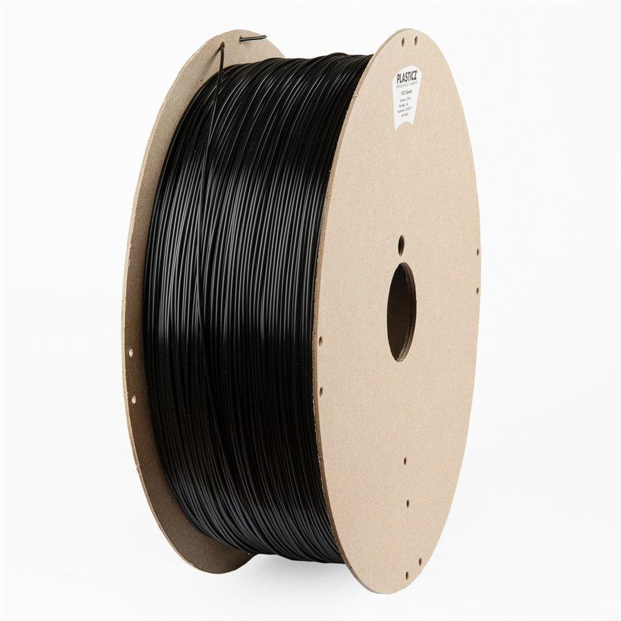 """PETG filament, 2 KG """"ECO-pack"""", Traffic Black RAL 9017-1"""